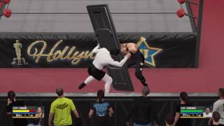 WWE 2K16 Andy Kaufman VS Jerry Lawler In A No Holds Barred Match With Ambush During Entrance