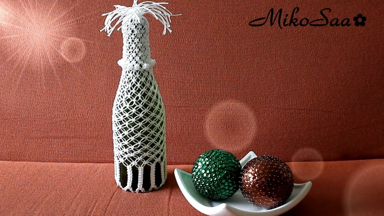 DIY Botella Reciclada con Macrame  DIY Recycled Bottle