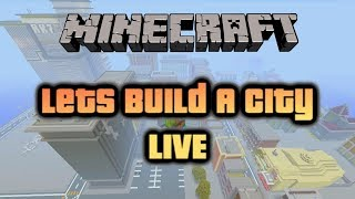 Lets Build A Minecraft City LIVE ! Xbox One (Roadto10k) thumbnail
