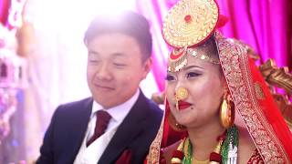 Thumbir Weds Nabina (Nepali Wedding Reception Highlights, UK) Maan Mutu (Tara Prakash Limbu)