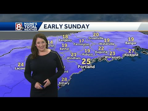 Fading sunshine Sunday, ahead of some Monday snow