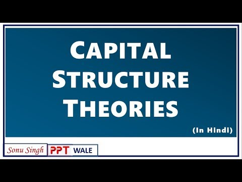 CAPITAL STRUCTURE THEORIES IN HINDI | Net income, Net Operating Income, MM approach | BBA/Bcom | ppt
