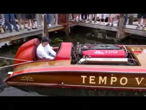 Tempo VI Vintage Hydroplane Comes to Life at Gull Lake, MN.
