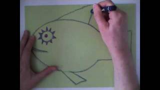 How to Draw a Paper Fish (fish #3)