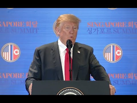 Trump Post-Summit News Conference In Singapore - Full Event