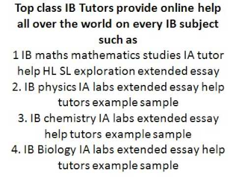 IB Tok Ia Commentary Extended Essay Help Tutor Example Sample Assignment