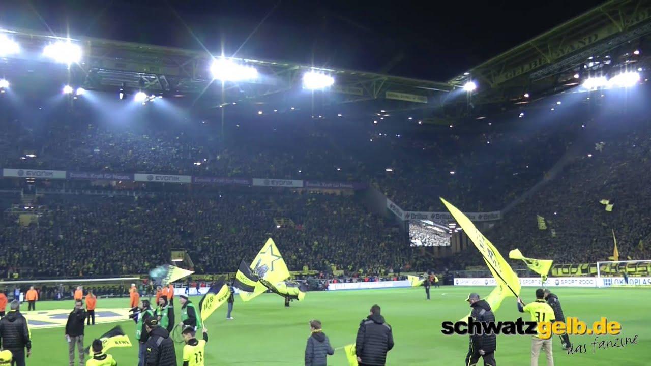 Dortmund - Schalke Atmo - Begrüßung 25.03.2014 Scheiss S04 BVB Borussia
