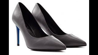 Видео обзор обуви LORIBLU   лодочки цвета ''черный антрацит''