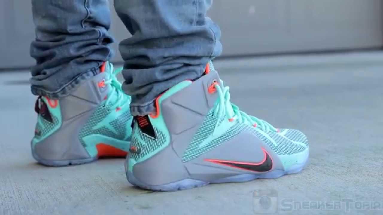7f7dbd460a6c Nike LeBron 12 NSRL on Feet - YouTube