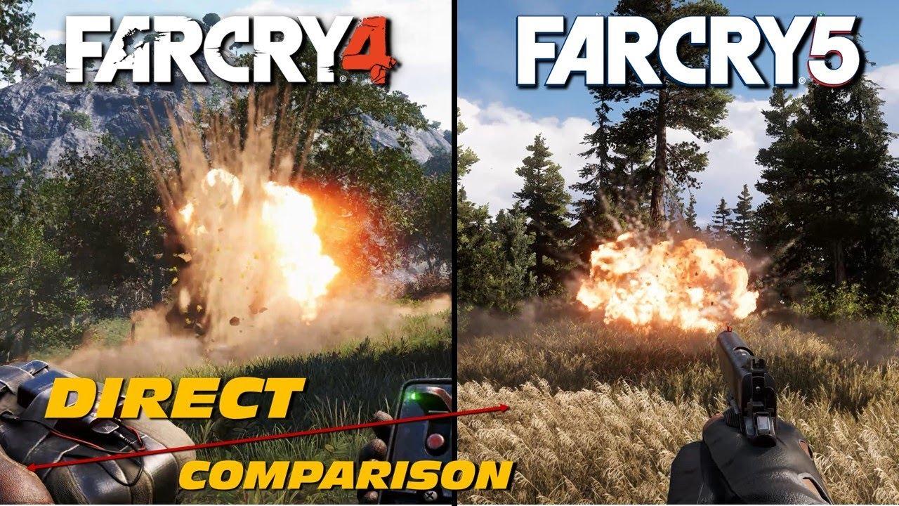 Far Cry 4 Vs Far Cry 5 Direct Comparison Youtube