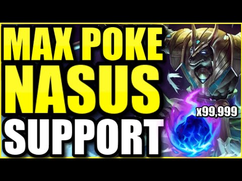 I did the most damage as MAXIMUM POKE NASUS SUPPORT.... how is this full AP build so strong?! ��