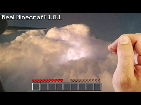 Real Life Minecraft - THUNDERSTORM AIRPLANE