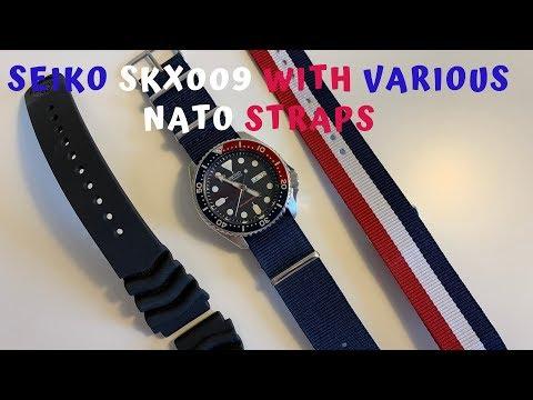 Seiko SKX009 With Various Nato Straps