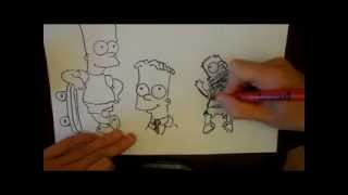 How to draw Bart Simpson (3 different ways)