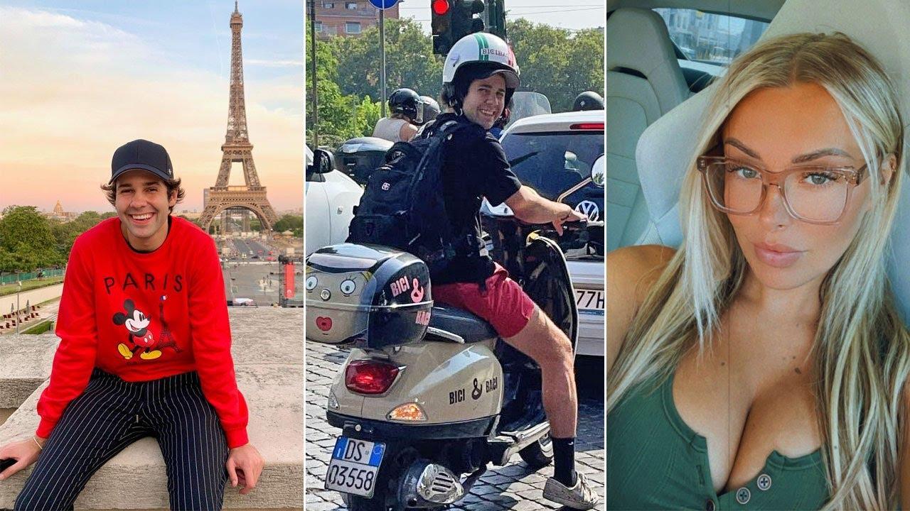 David Dobrik Behind the Scenes in Europe | Confessing his Love for Natalie Vlog Squad IG Stories 97