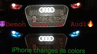Audi A4 Demon Eyes (LED Blutooth Lights Tutorial For B8.5 S4, S5, A5, A6, other makes & models)