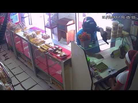 Veja as imagens do assalto a Padaria Boutike do Pão em Parnaíba