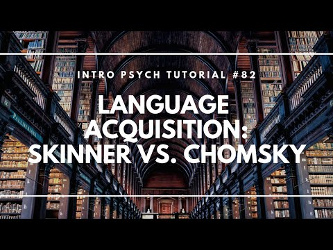 Language Acquisition - Skinner vs. Chomsky (Intro Psych Tutorial #82)