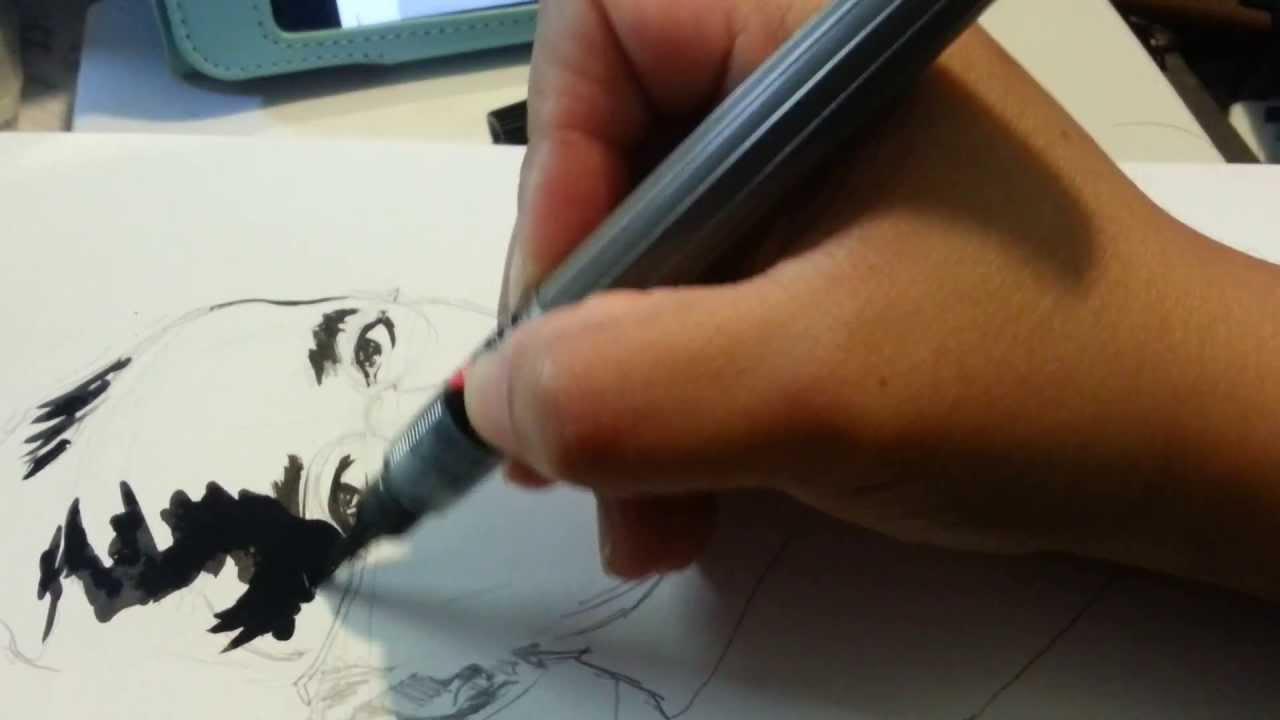 Pentel Art Brush Black