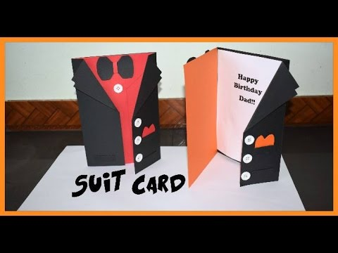 DIY Jacket Suit Card!! - YouTube