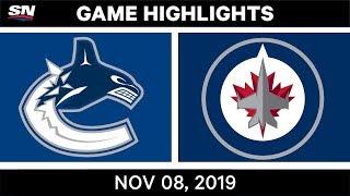 NHL Highlights   Canucks vs Jets – Nov. 8, 2019