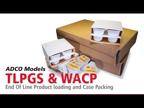 ADCO Models TLPGS & WACP & End Of Line Product Loading And Case Packing