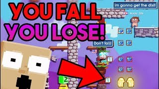 YOU FALL, YOU LOSE! (Rip my DLS!) | Growtopia funny prank