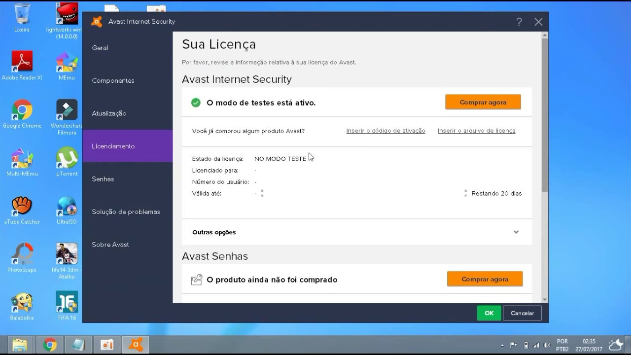 codigo de avast free antivirus 2018
