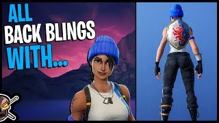 All Back Blings on Blue Team Leader - PS4 Exclusive - Fortnite Cosmetics