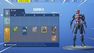 ON BUY THE NEW SAISON COMBAT PAS 9 on FORTNITE BATTLE ROYALE!