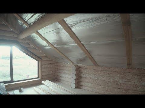 Утепление крыши в деревянном доме.