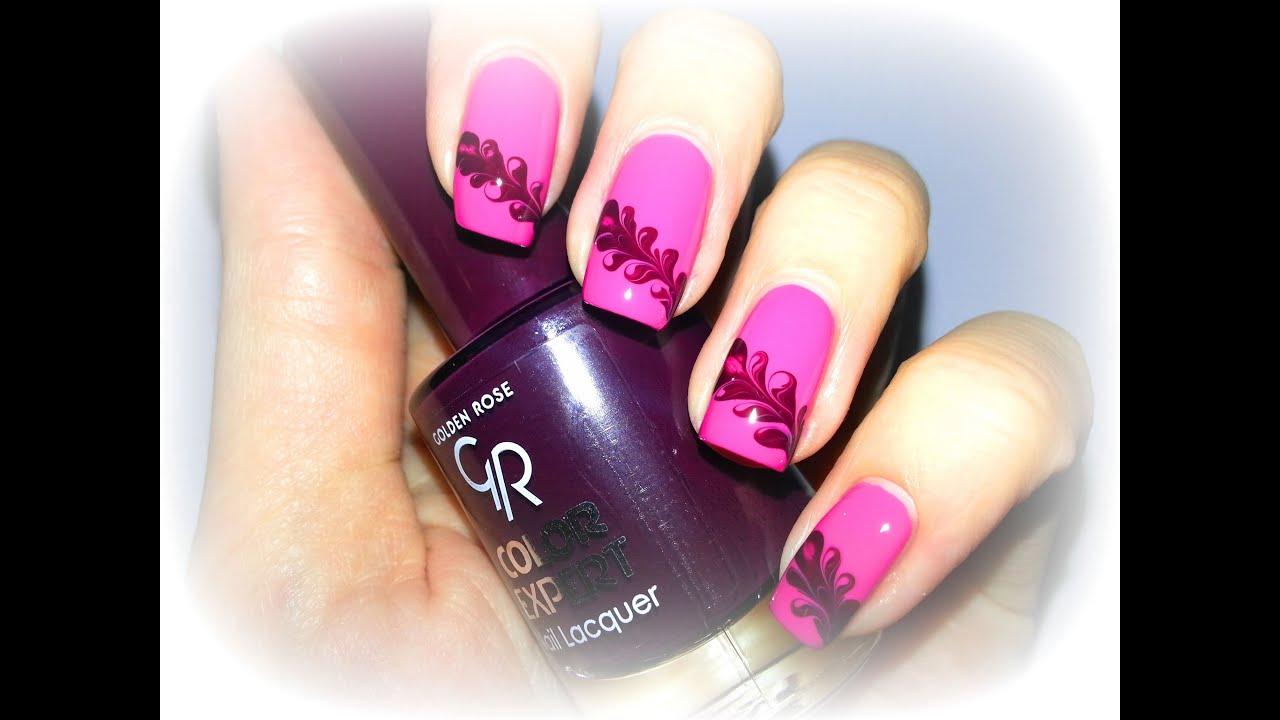 Романтичный дизайн ногтей