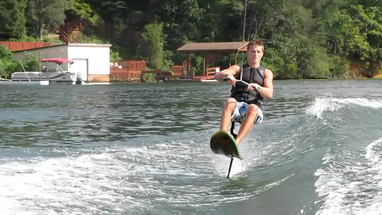 cole sarver claytor lake air chair back flip youtube