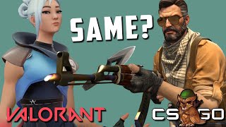 Valorant vs Counter-Strike Shooting & Movement