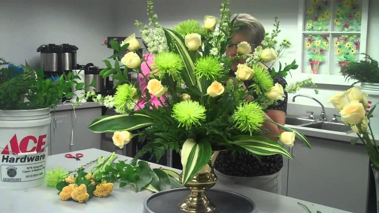 Altar Flower Arrangement Step Three Youtube