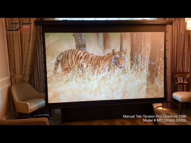 Elite ProAV® Manual Tab-Tension Pro CineGrey 5D® at CES 2020