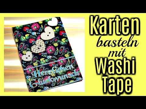 Diy Inspiration Fur Basteln Mit Papier Karte Gestalten Mit Washi