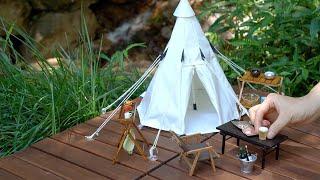 계곡 캠핑 / 새로 만든 텐트 피칭 / 미니어처 캠핑 …