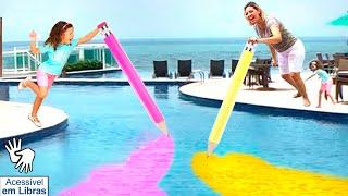 👋🏻 LIBRAS 👋  VALENTINA PONTES BRINCANDO E APRENDENDO CORES / Learn colors with magic pencil!!
