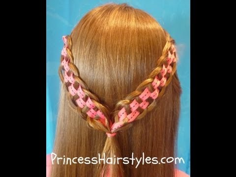 checkerboard braid princess hairstyles