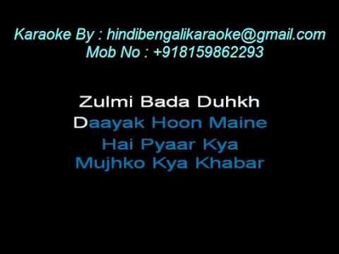 Nayak Nahi Khalnayak Hoon Main (With Female Vocals) - Karaoke - Khalnayak - Vinod Rathod, Kavita