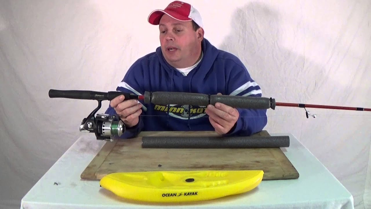 Pipe insulation fishing rod floats episode 126 youtube for Float fishing rods