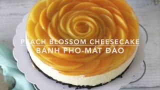 (Nobake) PEACH CHEESECAKE recipe - Cách làm bánh CHEESCAKE ĐÀO KHÔNG CẦN LÒ