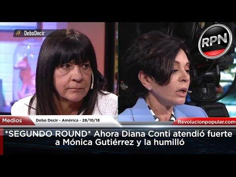 *SEGUNDO ROUND* Ahora Diana Conti atendió fuerte a Mónica Gutiérrez y la humilló