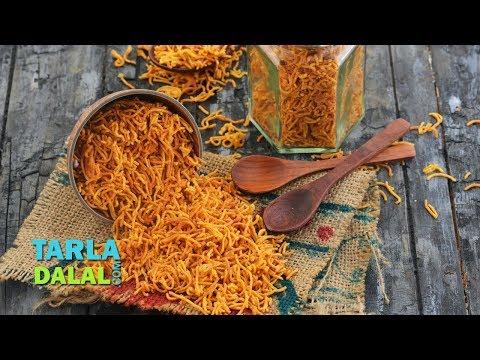 Aloo Bhujia, Potato Sev, Jar Snack by Tarla Dalal