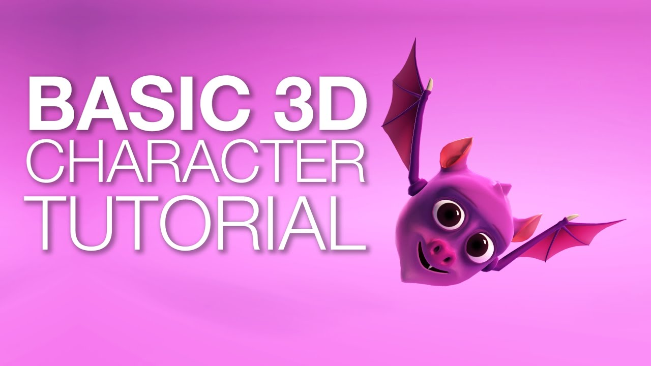 Create a 3d character concept to finish - Go Make Games, PS
