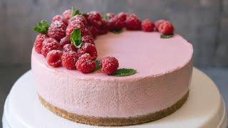 No-Bake Raspberry Cheesecake