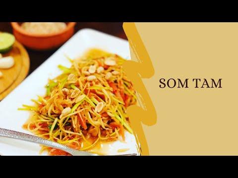 Som Tam | Thai Papaya Salad | Homemade Som Tam