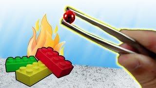 💥 Die kleinste GLÜHENDE METALLKUGEL vs LEGO 🔥!  700°C heißes Experiment