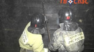 Пожар в Горном Щите(Видео: ТВ